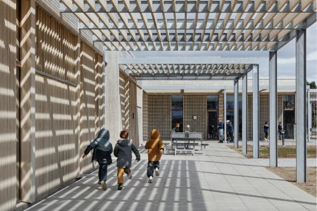 Erlev Skole i Haderslev er kåret til årets skolebyggeri 2021